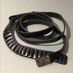 Ralph Lauren Collection Black Leather Wrap Belt